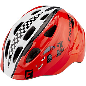Cratoni Akino Casque Enfant, racing car/red gloss